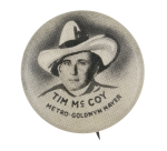 Tim Mc Coy Entertainment Button Museum