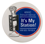 WNYC Independence Entertainment Button Museum
