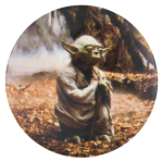 Yoda Star Wars Entertainment Button Museum