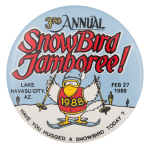 3rd Annual Snowbird Jamboree Event Button Museum