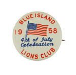 Blue Island Lions 4th of July 1958 Event Busy Beaver Button Museum