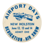 Airport Days Event Button Museum