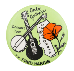 Arlo Guthrie Concert Tour Event Button Museum
