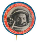 Astronaut John H. Glenn Jr. Events Button Museum