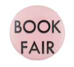 Book Fair Pink Event Button Museum
