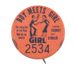 Boy Meets Girl Girl 2534 Event Button Museum