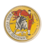 Bull Fights Souvenir Event Button Museum