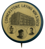 Cornerstone Laying Event Busy Beaver Button Museum