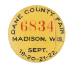 Dane County Fair Event Button Museum