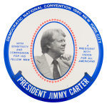 Democratic National Convention 1980 Blue Event Button Museum