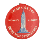 Empire State Observatories Advertising Button Museum