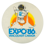Expo 86 Vancouver Canada Event Button Museum