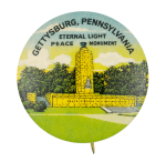Eternal Light Peace Memorial Event Button Museum