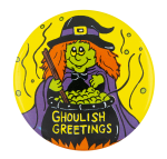 Ghoulish Greetings Event Button Museum