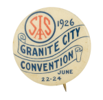 Granite City Convention 1926 Event Button Museum