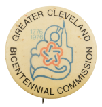 Greater Cleveland Bicentennial Commission Event Busy Beaver Button Museum