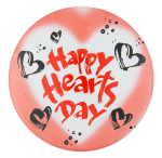 Happy Hearts Day Events Button Museum