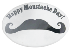 Happy Moustache Day Event Button Museum