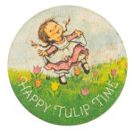 Happy Tulip Time Event Button Museum
