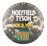 Holyfield Tyson Event Button Museum