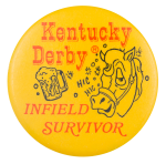 Kentucky Derby Infield Survivor Event Button Museum