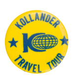 Kollander Travel Tour Event Button Museum