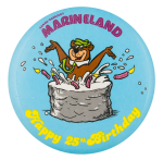 Marineland Happy 25th Birthday Event Button Museum