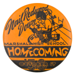 Marshall High School Homecoming Event Button Museum