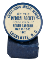 Medical Society Charlotte Event Button Museum