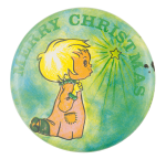 Merry Christmas Child Event Button Museum