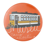 Museu do Carro Electrico Orange Event Button Museum