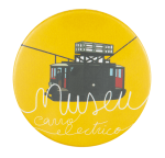 Museu do Carro Electrico Yellow Event Button Museum