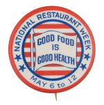 National Restaurant Week Event Button Museum
