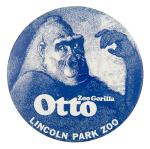 Otto Zoo Gorilla Event Button Museum