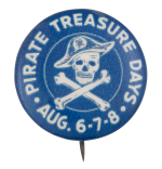 Pirate Treasure Days Event Button Museum