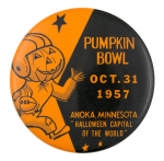 Pumpkin Bowl 1957 Event Button Museum