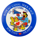 Rideau Canal Duck Race Event Button Museum