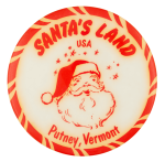 Santa's Land Putney Event Button Museum