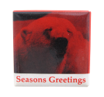 Seasons Greetings Polar Bear Events Button Museum