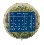September Calendar 1897 Event Busy Beaver Button Museum