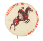 Souvenir of Michigan Fair Event Button Museum