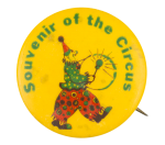 Souvenir of the Circus Red and Green Clown Event Button Museum