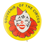 Souvenir of the Circus Yellow Event Button Museum