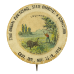 State Charities and Correction Event Button Museum