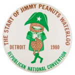 The Start of Jimmy Peanuts Waterloo Event Button Museum