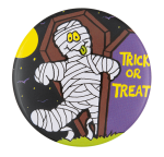 Trick Or Treat Mummy Event Button Museum