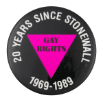 Twenty Years Since Stonewall Event Button Museum