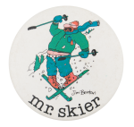 Jim Benton Mr. Skier Humorous Button Museum