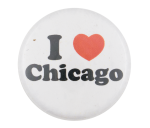 I Love Chicago Plain  I Heart Buttons Button Museum