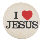 I Love Jesus I Heart Button Museum
